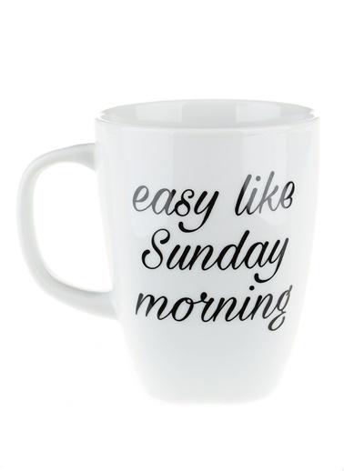 Morhipo Home Easy Like Sunday Morning - Çift Taraflı Kupa Beyaz